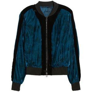 Reversible Velvet/Satin Tie Dye Baseball Jacket